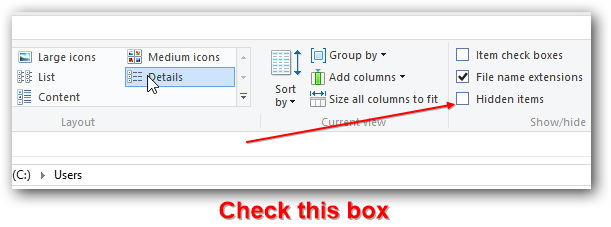 t2.check-option-hidden-items-to-see-hidden-system-folders-windows 8